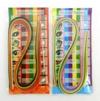 Набор бумаги для квиллинга BG  весенние и осенние цвета 50полос 5цв., 06*45см асс