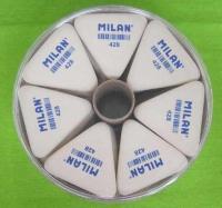 Ластик MILAN 428 треуг. в цилиндр. упаковке для чернограф.каранд. B,2B,4B (28/224)