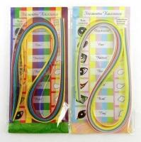 Набор бумаги для квиллинга BG  яркие и пастельные цвета 50полос 5цв., 06*45см