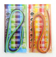 Набор бумаги для квиллинга BG  теплые и холодные цвета 50полос 5цв., 06*45см асс