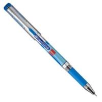 Ручка масляная Cello Butterflow, 0.6мм, голубой корпус, резиновая накладка, металл наконечник, колпачок с металл клипом, стержень синий (305 044020/к) (Cello)