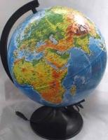 Глобус с подсв. d=320 ГЛОБЕН Классик физико-политический рельефный с подсветкой