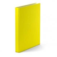 Папка 2 кольца EK А4 неон желтая,ламиниров.карт.
