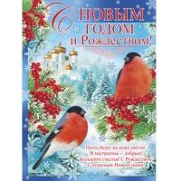 Плакат С Новым годом и Рождеством! 440х600