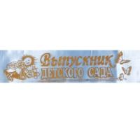 Лента Выпускник детского сада голуб. шелк ДМ