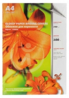 Обложка д/брош. картон глянец А4 250г/м2 белые (100)