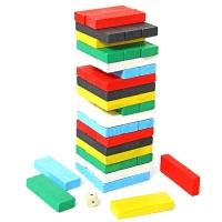 Дер. Логич.игрушка Падающая башня 23,5*7,5*7,5 ФФ