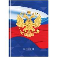 """Бизнес-блокнот А5 80л. OfficeSpace """"Россия"""", матовая ламинация, выборочный УФ-лак"""