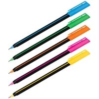 """Ручка шариковая Luxor """"Stick Soft Touch"""", синяя, 0,7мм, корпус ассорти"""