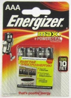 Батарейка LRO3  Energizer MAX  BL-4 (3+1)
