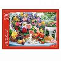 Пазл 500 Летний натюрморт в саду
