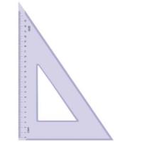 Треугольник 30гр., 23см, прозрачн., тонированный (100/160)