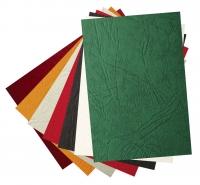 Обложка для переплета А4, картон, под кожу, 230гр./м2, зеленый, 100шт. (Union)