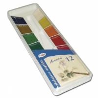 """Краски акварельные ГАММА """"Лицей """", 12 цв., пластиковая коробка, без кисти"""