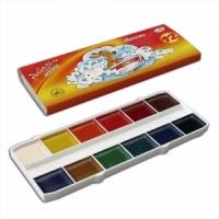 """Краски акварельные ГАММА """"Мультики"""", 12 цветов, картонная коробка, без кисти"""