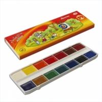 "Краски акварельные ГАММА ""Мультики"", 14 цв., картон коробка, без кисти"