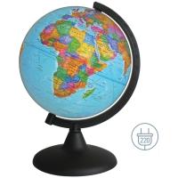 Глобус политический Глобусный мир, 25см, с подсветкой на круглой подставке