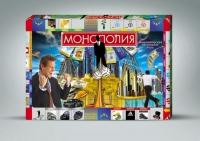 Монополия малая (Россия), поле, кубик, 4 фишки, 219 карточек акций и денежных ед, инструкция