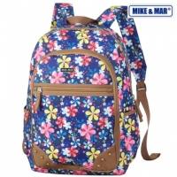 Рюкзак городской Mike&Mar (Майк Мар) син/цветы
