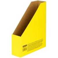 Накопитель-лоток архивный из микрогофрокартона OfficeSpace, 75мм, желтый, до 700л.