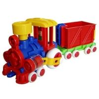 Паровозик Ромашка Детский сад с одним вагоном