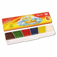 "Краски акварельные ГАММА ""Мультики"", 6 цв., картон коробка, без кисти"
