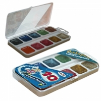 """Краски акварельные ГАММА """"Страна эльфов"""", 10 цв., перламутровые, пластик. коробка, без кисти,"""