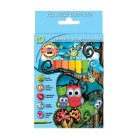 """Фломастеры Koh-I-Noor """"Owls"""", 10цв., трехгранные, смываемые, картон, европодвес"""
