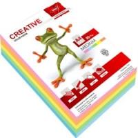Бумага цветная для копировальных аппаратов и принтеров, 250л, 80г/кв.м, формат А4, ассорти, 5цветов Medium  (Крис)