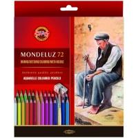 """Карандаши акварельные Koh-I-Noor """"Mondeluz Old Man"""", 72цв., заточен., кисть+точилка, картон, европодвес"""