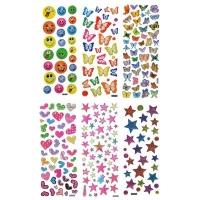 Наклейка детская, 20х7,5см, пластик, 5-7 дизайнов