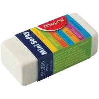 "Ластик Maped ""Softy Mini"" прямоугольный, пластик, картонный футляр, 39*18*12,5мм"