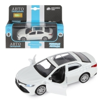 Машинка металл. 1:43 Toyota Camry, белый, откр. двери, инерция, в/к 17,5*12,5*6,5 см