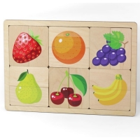 Дер. Игра развивающая Фрукты,ягоды 00737