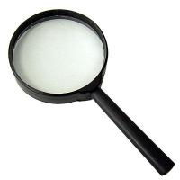 Лупа канцелярская пласт. держатель, Д=40мм, 10-х кратная (WORKMATE)