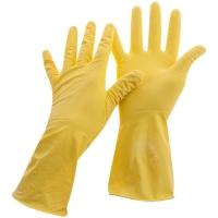 Перчатки резиновые хозяйственные OfficeClean Универсальные, р.L, желтые, пакет с европодвесом