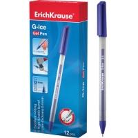 Ручка гелевая EK G-ICE, 0.5мм, прозрачный корпус, колпачок с клипом, стержень синий (Erich Krause)