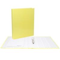 Папка картонная 4 кольца А4 35мм ламинированная, NEON, желтая (Erich Krause)