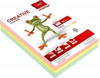Бумага цветная для копировальных аппаратов и принтеров, 250л, 80г/кв.м, формат А4, ассорти, 5цветов Pastel  (Крис)