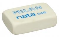 Ластик Milan Nata мягкий прямоугольный, универсальный, из каучука, размер 31х13х9мм (MILAN)