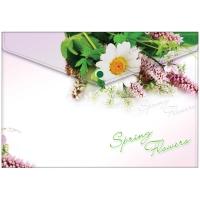 "Папка-конверт на кнопке А4, ""Spring Flowers"", 180мкм"