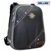 Рюкзак школьный Mike&Mar (Майк Мар) Самолеты серый