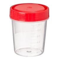 Контейнер для биоматериалов, стерильный, пластик, 120мл. - 125 мл. арт 1С/1