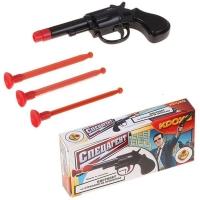 Пистолет Спецагент с тремя стрелами на присосках в кор. Bauer