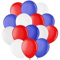 """Воздушные шары, 50шт., М12/30см, MESHU """"Триколор"""", пастель, 3 цвета ассорти"""