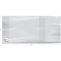 Обложка 220*460 для рабочих тетрадей, прописей, универсальная,  ПВХ 120мкм, ШК