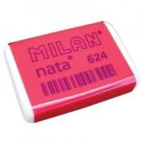 Ластик Milan Nata мягкий прямоугольный, универсальный, в картонном держателе, из каучука, размер 37х27х7мм (MILAN)