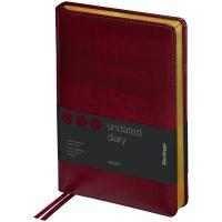"""Ежедневник недатир. A5, 160л., кожзам, Berlingo """"xGold"""", зол. срез,"""