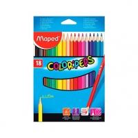 Карандаши 18цв. MAPED Color`Peps треугол.,ударопроч.
