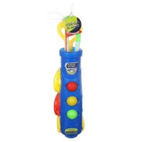 Набор для гольфа детский, 10 пр.: (корзина 43см, 2 лунки, 2 клюшки, 3 мячей), пластик